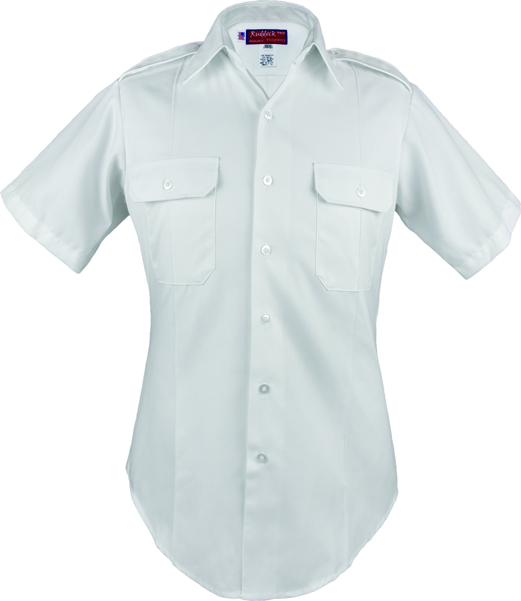 Male Army White Short Sleeve Duty Shirt Us Military
