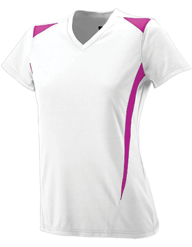 Ladies Premier Jersey 1055 White/Power Pink