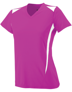Ladies Premier Jersey 1055 Power Pink/White