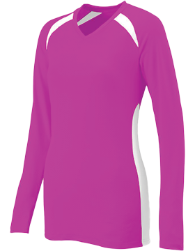 Ladies Spike Jersey 1305 Power Pink/White