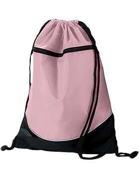 Tri-Color Drawstring Backpack 1920 Light Pink/Black/White