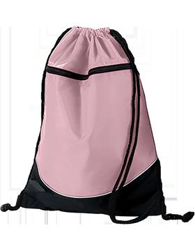 Tri-Color Drawstring Backpack 1920 Light Pink/Black/White