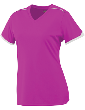 Girls Motion Jersey 5046 Power Pink/White