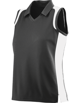 Ladies Sleeveless Textured Gameday Sport Shirt 5059