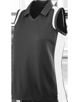 Ladies Sleeveless Textured Gameday Sport Shirt 5059