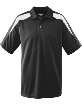 Wicking Textured Color Block Sport Shirt 5086