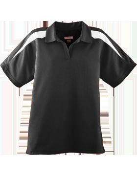 Ladies Wicking Textured Color Block Sport Shirt 5087