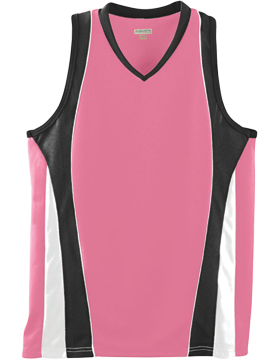 Girls Wicking Mesh Advantage Jersey 514 Pink/Black/White