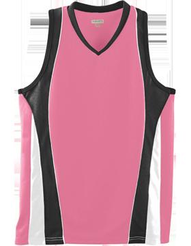 Girls Wicking Mesh Advantage Jersey 514 Pink/Black/White