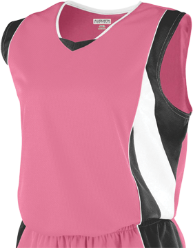 Girls Wicking Mesh Extreme Jersey 516 Pink/Black/White