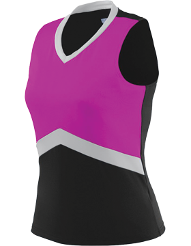 Girls Shell 9201 Black/Power Pink/Metallic Silver