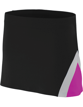 Girls Skirt 9206 Black/Power Pink/Metallic Silver