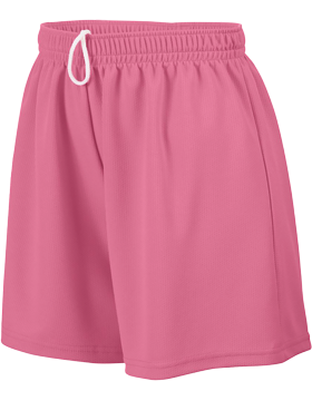 Girls Wicking Mesh Short 961 Pink