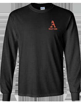Alexandria Valley Cubs Mascot Black Long Sleeve T-Shirt G240