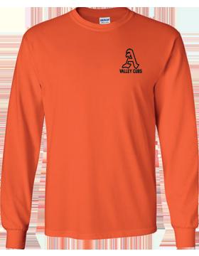 Alexandria Valley Cubs Mascot Orange Long Sleeve T-Shirt G240
