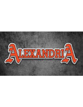 Alexandria License Plate