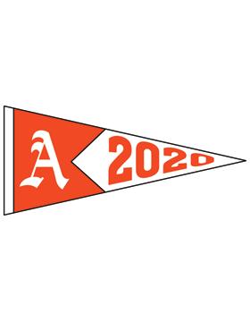 Alexandria with Year Customizable Alumni Pennant Sticker