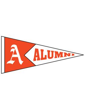 Alexandria with Alumni Pennant Sticker