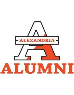 Alexandria with Alumni Square Sticker