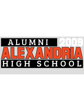 Alexandria with Year Customizable Alumni Bumper Sticker