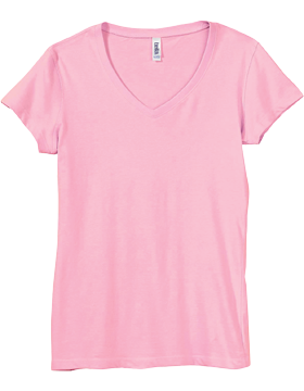 B6005 Bella V-Neck T-Shirt Pink