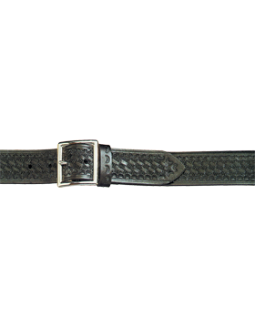Garrison Belt Basketweave Black Nickle B760-38BWN