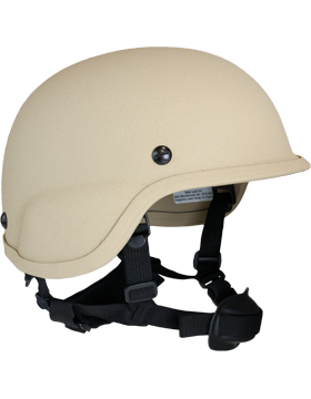 Ballistic NIJ 3A Helmet TAN with Chin Strap BA3AC small