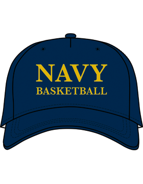 BC-USNA-100D Ball Cap Navy Blue - Navy Basketball without Line Accent