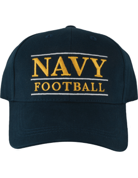 BC-USNA-101A Ball Cap Navy Blue - Navy Football with Line Accent