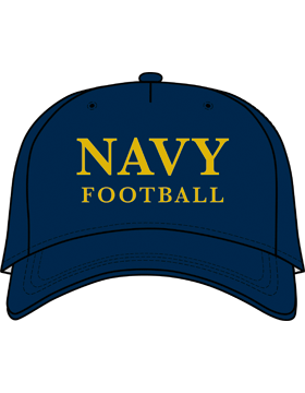 BC-USNA-101D Ball Cap Navy Blue - Navy Football without Line Accent