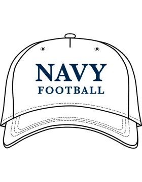 BC-USNA-101E Ball Cap White - Navy Football without Line Accent