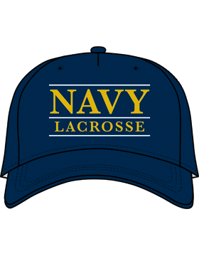 BC-USNA-102A Ball Cap Navy Blue - Navy Lacrosse with Line Accent