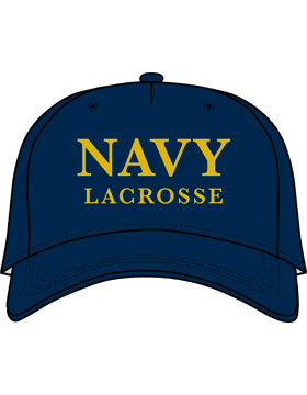 BC-USNA-102D Ball Cap Navy Blue - Navy Lacrosse without Line Accent