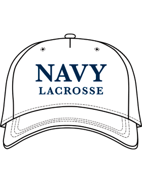 BC-USNA-102E Ball Cap White - Navy Lacrosse without Line Accent