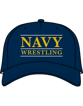BC-USNA-103A Ball Cap Navy Blue - Navy Wrestling with Line Accent