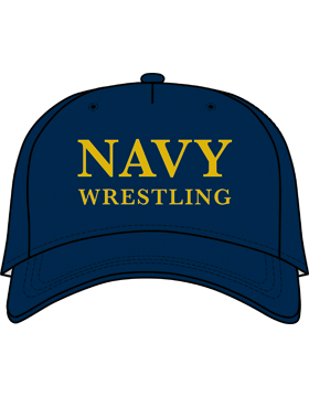 BC-USNA-103D Ball Cap Navy Blue - Navy Wrestling without Line Accent