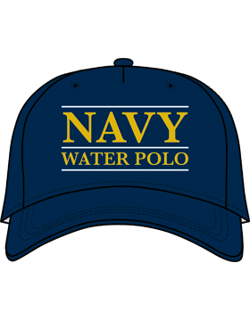 BC-USNA-104A Ball Cap Navy Blue - Navy Water Polo with Line Accent