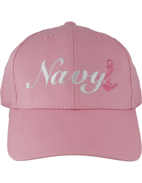 BC-USNA-315 Ball Cap Pink, White Navy with Dark Pink Anchor