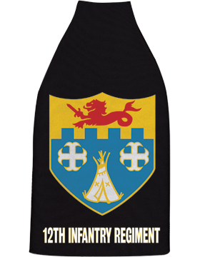 Bottle Hugger, 12th Infantry Regiment Crest, Black
