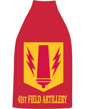 Bottle Hugger, 41 Field Artillery Patch, Red