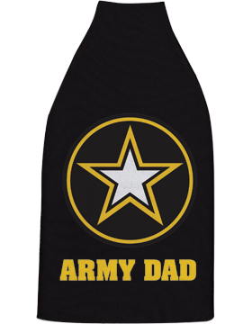 Bottle Hugger, Army Star with Army Dad, Black