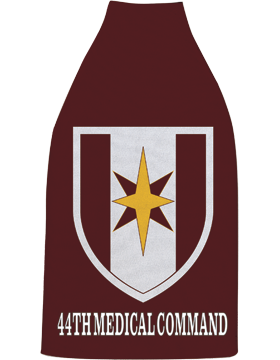 Bottle Hugger, 44th Medical Command Patch, Maroon