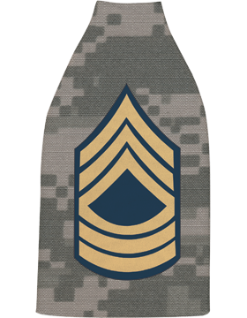 Bottle Hugger, Master Sergeant Gold/Green Chevron, Camo