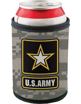 Bottle Hugger Wrap, U.S. Army with Star, Camo