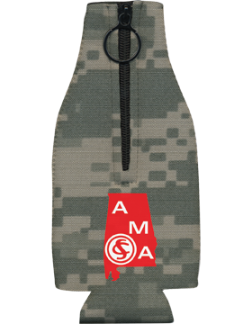 BHZ-AMA-001, Bottle Hugger w. Zipper, Alabama Military Academy