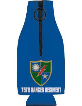 Bottle Hugger with Zipper, 75 Ranger Regiment Crest, Blue
