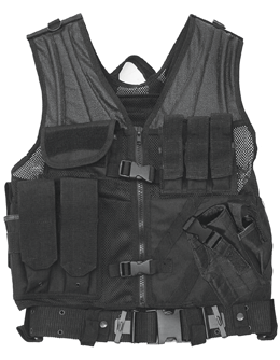 Cross Draw Vest Black Adjustable CV