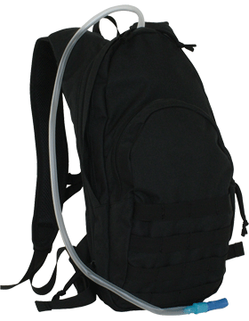 Compact MOLLE Hydration Backpack Black 56-351