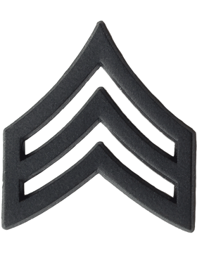 Black Metal Rank BM-105 Sergeant (E-5)