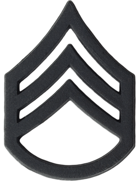 Black Metal Rank BM-106 Staff Sergeant (E-6)